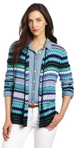 Chaus Women's Long Sleeve Open Front New Missoni Cardigan