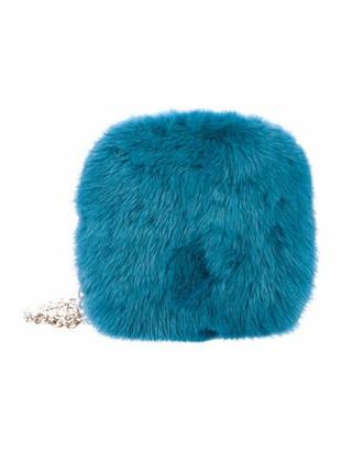 Gucci Mink Fur Minaudiere Blue