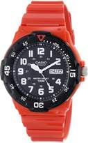 Casio Men's MRW200HC-4B Classic Diver Inspired Watch, Red