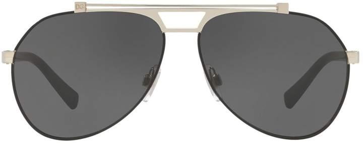 Dolce & Gabbana Metal-Trimmed Pilot Sunglasses