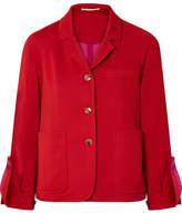 Golden Goose Deluxe Brand Striped Cotton-blend Satin Blazer - Red