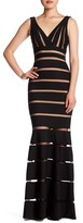 Forever Unique Tara V-Neck Mesh Stripe Dress