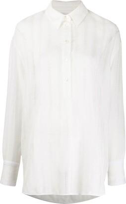 Victoria Victoria Beckham Oversized Long Sleeve Shirt