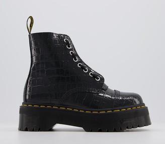 Dr. Martens Sinclair Zip Boots Black Croc Emboss