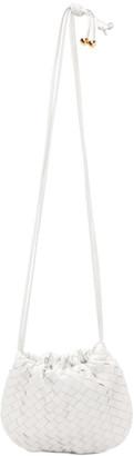 Bottega Veneta White Mini Intrecciato Bulb Bag
