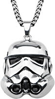 Star Wars FINE JEWELRY Stormtrooper Mens 3D Stainless Steel Pendant Necklace