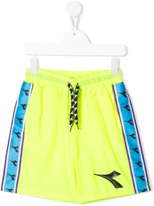 Diadora Junior Logo Stripe Track Shorts