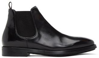 Officine Creative Black Ergosum 3 Chelsea Boots