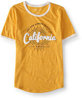 Aeropostale Womens California Ringer Graphic T Shirt