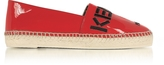 Kenzo Paris Red Patent Leather Espadrilles