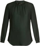 Nili Lotan Olivia semi-sheer silk-chiffon blouse