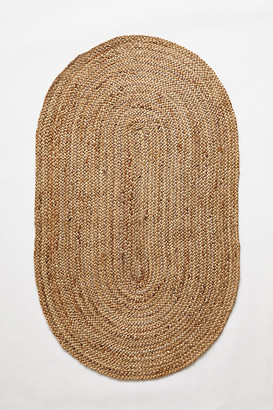 Anthropologie Handwoven Lorne Oval Rug By in Beige Size 3 X 5
