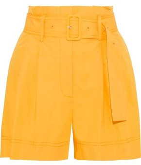 Derek Lam 10 Crosby Belted Cotton-poplin Shorts