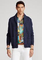 Blue Shawl Collar Women S Cardigans Shopstyle