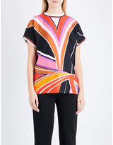 Emilio Pucci Stella-print silk and cotton top