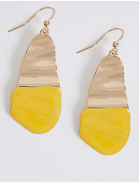 M&S Collection Crinkle Paint Drop Earrings