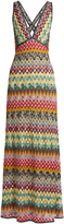Missoni Deep V-neck crochet-knit gown