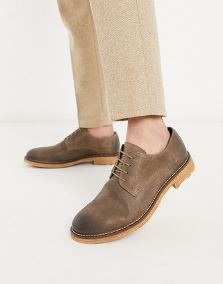 Silver Street leather lace up in brown