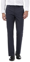 Jeff Banks Navy Checked Trousers With Wool