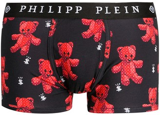 Philipp Plein Teddy Bear-Print Briefs
