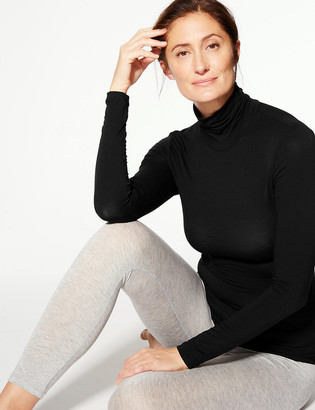 Marks and Spencer Heatgen Thermal Polo Neck Long Sleeve Top