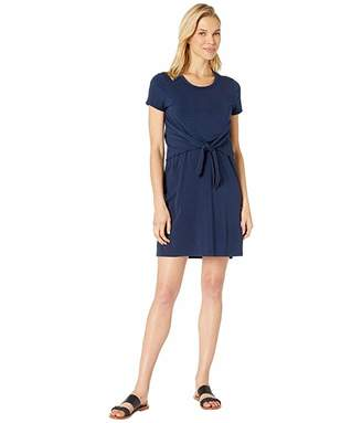Mod-o-doc Short Sleeve T-Shirt Dress with Tie Front in Cotton Modal Spandex Jersey
