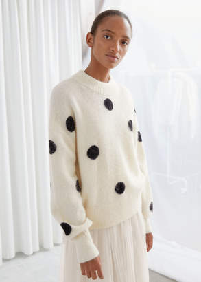 And other stories Wool Blend Polka Dot Sweater