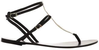 Siren Serra II Black Leather Sandal