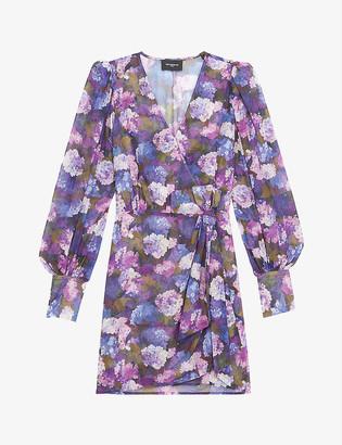 The Kooples V-neck floral-print crepe dress