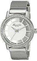 Kenneth Cole New York Women's KC4954 Transparency Silver Dial Stones Detail Watch