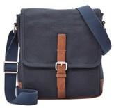 Fossil Men's 'Davis' Canvas Messenger Bag - Blue