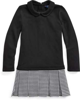 Ralph Lauren Ponte-Skirt Interlock Dress