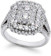 Macy's Diamond Cluster Engagement Ring (1-3/4 ct. t.w.) in 14k White Gold