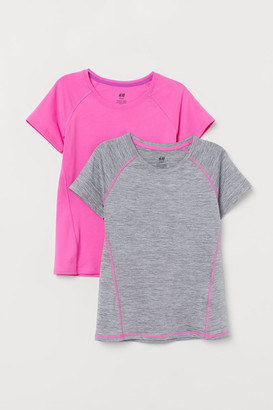 H&M 2-pack Sports Tops - Gray