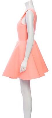 Aq/Aq Crew Neck Mini Dress Pink Crew Neck Mini Dress