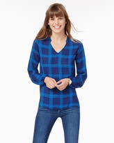 Charming charlie Maisie Plaid High-Low Top