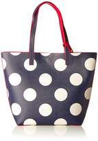 Joules Women's Revery Print Shoulder Bag Blue (Navy Spot)