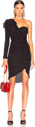 Veronica Beard Leona Dress in Black & Red | FWRD
