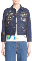 Marc Jacobs Women's Embroidered Patch Denim Jacket