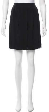 Cushnie et Ochs Fringe-Trimmed Silk Skirt w/ Tags