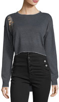 Raga Lucia Distressed High-Low Sweater