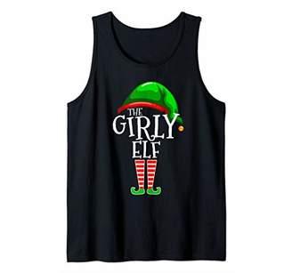 Girly Elf Family Matching Group Christmas Gift Women Girls Tank Top