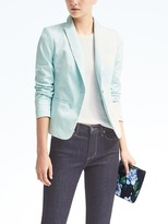 Banana Republic Sateen One-Button Blazer
