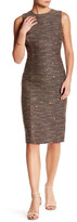 Catherine Malandrino Sleeveless Tweed Sheath Dress