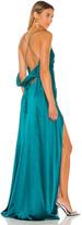 Mason by Michelle Mason X REVOLVE Strappy Cowl Wrap Gown