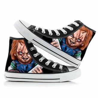 Bqjsdfjegd Good Guys Chucky Shoes Unisex High Shoes Personalise Printed Lacing Shoes Canvas Shoes Leisure Sneakers Unisex (Color : A03 Size : EU39 US7.5)