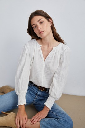 Velvet by Graham & Spencer Rylee Cotton Gauze Blouse