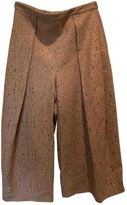 N°21 N21 Beige Cotton Trousers for Women