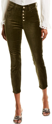 7 For All Mankind The High Waist Velvet Fatigue Skinny Ankle Leg
