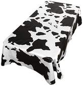 Carnation Home Fashions Dfln-70/MO Moo Vinyl Flannel Backed Tablecloth